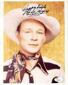 Roy Rogers Hand Signed Jsa Coa 8x10 Photo Autographed Authentic 4