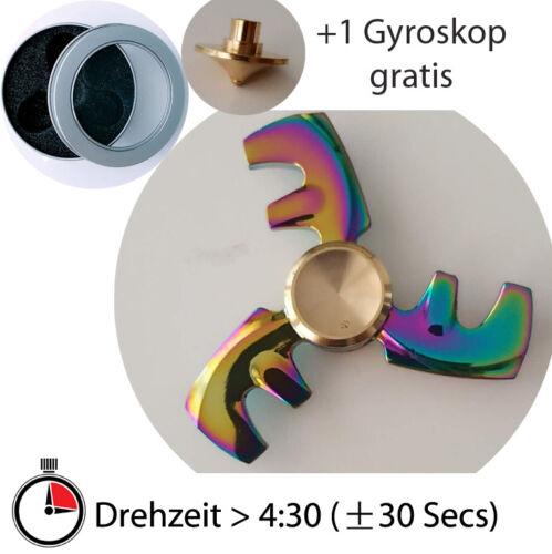 Spiele Hand Spinner Metall Fidget ADHS EDC KREISEL Anti Stress Multifarbe rainbow