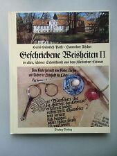 2 Bücher Geschriebene Weisheiten Schriftkunst Kloster Eismar 1991+90 Kalligrafie