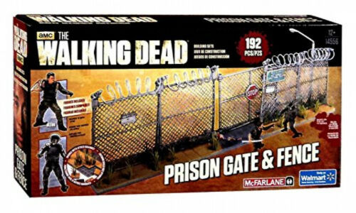 McFarlane Toys The Walking Dead AMC TV Series Prison Gate and Fence Building Set