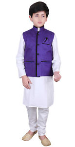 Kids Indian Boy/'s Nehru waistcoat for weddings /& Bollywood theme costume 003 UK