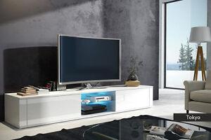 Dettagli su Mobile moderno Tokyo in 5 colori design, porta tv soggiorno con  led optional