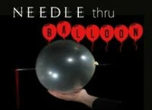 BALLOON PENETRATION Spikes Nail Thru Tube Stage Magic Trick Magician Set Clown