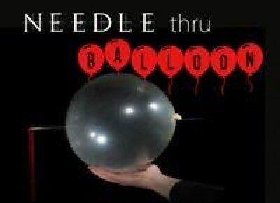 "15/"" NEEDLE THRU BALLOON Magic Trick Thru Penetration Kid Show Clear Stage Comedy"