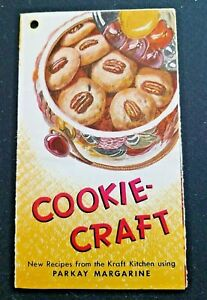 Vintage-Cookie-Craft-Parkay-Margarine-KRAFT-Recipe-Booklet-Pamphlet-11-RECIPES