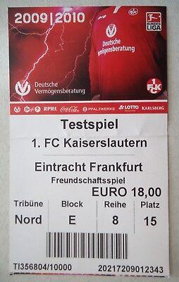 Eintracht Frankfurt FC Kaiserslautern Programm 2000//01 1
