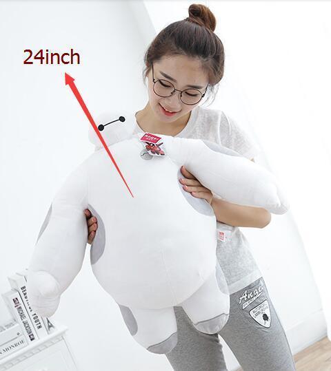 24'' Baymax Robot Sitting Stuffed Cushion Big Hero 6 6 6 Soft Plush Toy Pillow Gifts bd19ff