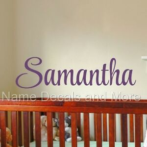 Bedroom Decor Kids Girls Sticker Personalized Name Vinyl Wall Decal Nursery