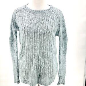 deb18fee8 SUNDANCE Catalog Women Light Blue Long Mohair Wool Blend Open Knit ...