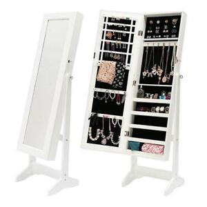 Mirror Jewellery Cabinet LUVO - White