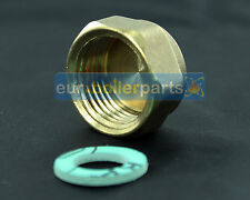 """WASHING MACHINE / DISHWASHER END CAP, BLANKING CAP AND WASHER 3/4"""" BRASS END END"""