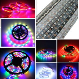 Office & School Supplies Ws2812b 1*8 8-bit Full Color 5050 Rgb Led Lamp Panel Light Black White Wholesale In Stock