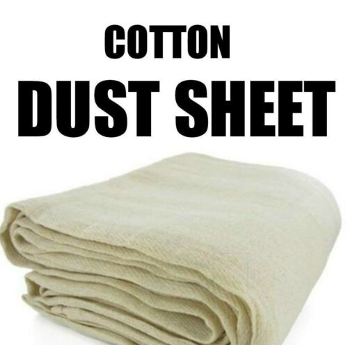 12//6 5 X Large Professionnel 100/% Cotton Twill Dust Sheets Decorating five pack