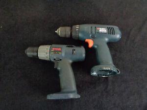 Pair-of-Cordless-Drills-Ryobi-12V-Black-and-Decker-9-6V-No-Batteries-OAYB1-615