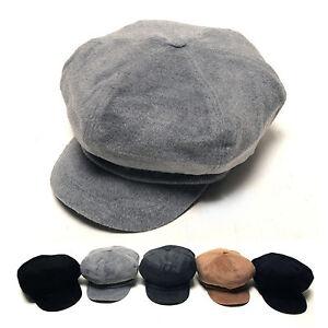 Unisex Mens Womens Velvet Suede Baker Boy Cabbie Gatsby Flat Cap ... 3c13f14e67