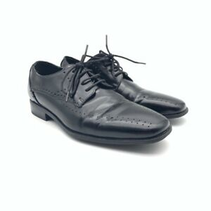 Stacy-Adams-Mens-Oxfords-Black-Leather-Perforated-Lace-Up-Low-Heel-Dress-Shoes-7