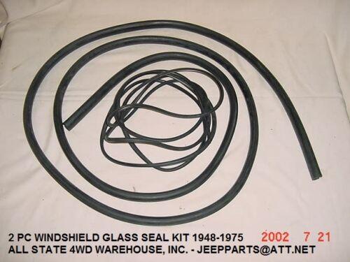 Windshield Weatherstrip JEEP 1949-75 M38 CJ3A CJ3B CJ5 CJ6-2 PC Seal Kit