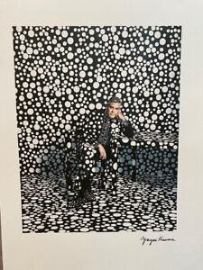 Okay kusama print signed and numbered + certificate-george clooney