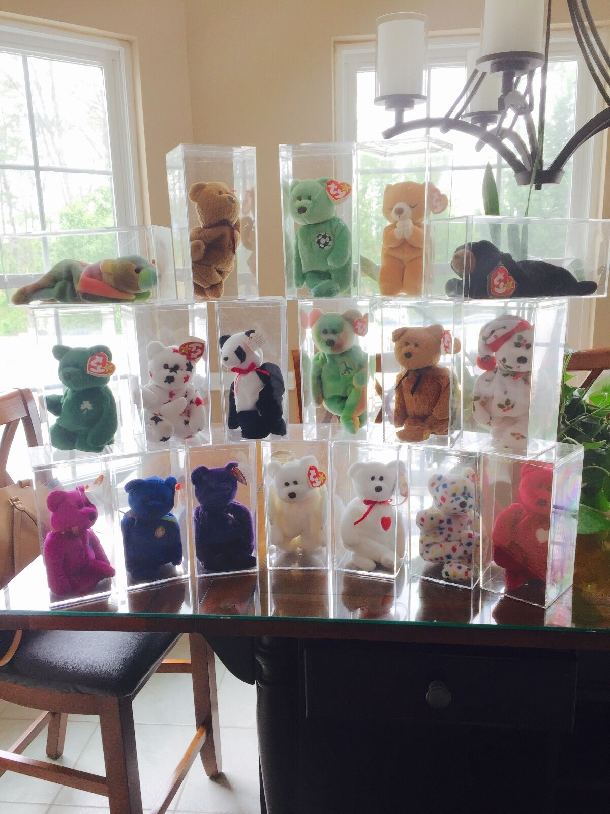18 18 18 Rare Beanie Babies (1994-2000)  in Mint Conditions in Cases 7a69ae