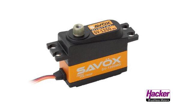 Servo SAVÖX sv-1250 MG Nuovo Alto Volt commercializzabile MIDI digitalservo 80101047