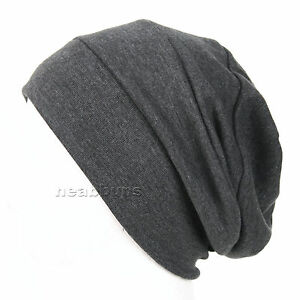 NEW chic BEANIE summer beanie chemo Cotton 100% Hats black Cap men ... 69827b13b1c
