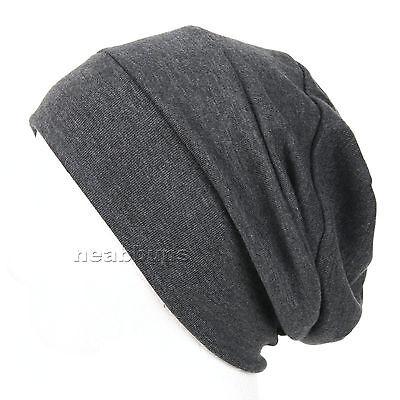NEW chic BEANIE summer beanie chemo Cotton 100% Hats black Cap men women NWT dan