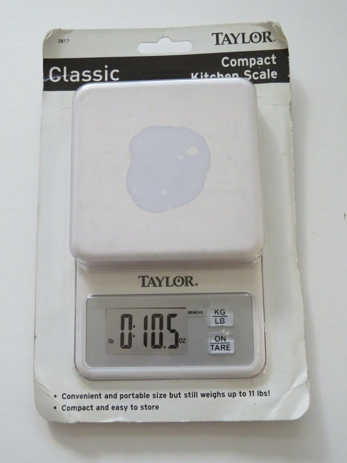 Taylor Precision 3817 Digital Kitchen Scale 11lb Portable Compact | eBay