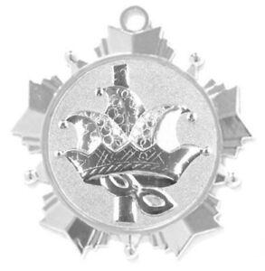 Karnevalsorden-70mm-silber-034-Maskerade-034-mit-Relief-Emblem-amp-Band-2-45-EUR-Stueck