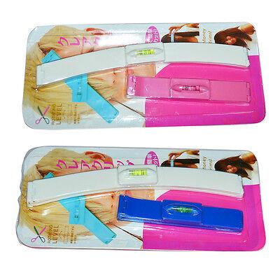 DIY 1Set  Professional Bangs Hair Cutting Clip Hairstyle Trim Ruler Tool
