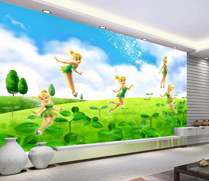 3D Gras Blume Fee 467 Tapete Tapeten Mauer Foto Familie Tapete Wandgemälde DE