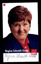 Regina Schmidt Zadel Autogrammkarte Original Signiert Politik +G 16141