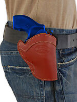 Barsony Burgundy Leather Western Style Holster Ruger 22 38 357 Snub Nose 2