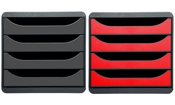 EXACOMPTA Schubladenbox BIG-BOX, 4 Schübe, karminrot | Diversified In Packaging  Packaging  Packaging  | Verrückter Preis, Birmingham  | Qualitätsprodukte  dd15e6