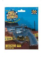 Detective Blue Gun Fires 8 Shot Caps13cm/5in Smiffys Fancy Dress Party Fun