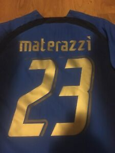 ITALY-Italia-2006-MATERAZZI-World-Cup-Maglia-shirt-jersey-worn-issued-match
