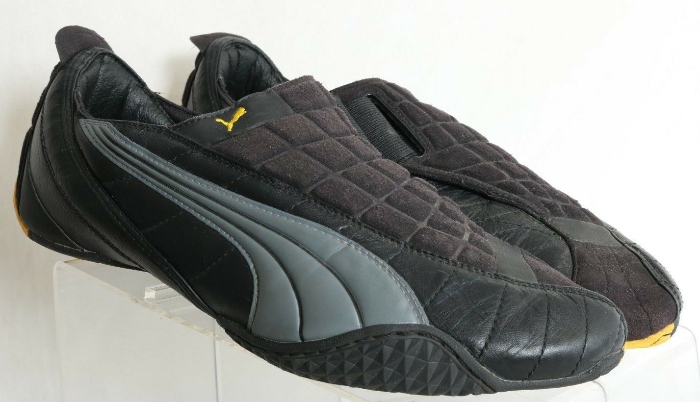 Puma Black Comfort No Laces Slip On Puma Soccor Sneakers 180819 Men's US 10.5