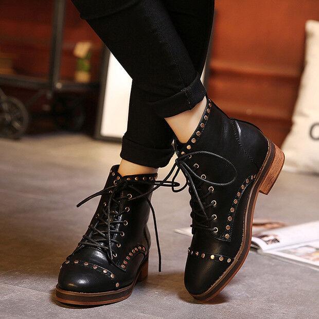 Bottes basses chaussures rangers 4 cm noir élégant comme cuir 9434