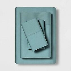 "TWIN XL 68/""x96/"" MADE BY DESIGN Temperature Balancing Solid Sheet Set TEAL"