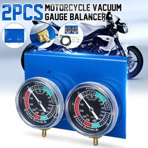 Motorcycle Carb Carburettor Fuel Vacuum Balancer 4 Cylinder Gauges Tool Kit Hose