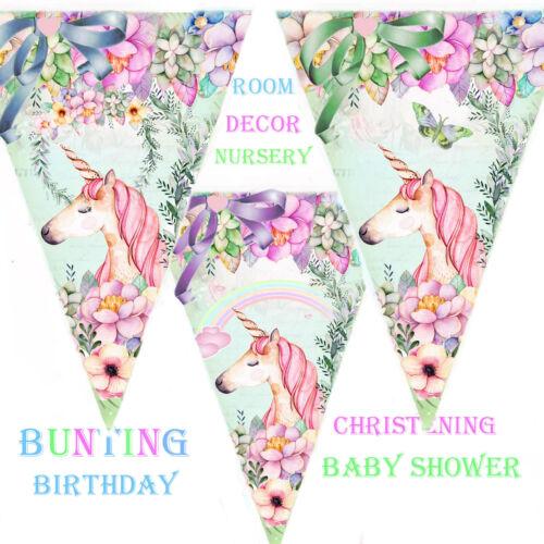 Birthday wedding Christening Party Decor Garland Baby Shower Bunting Unicorn