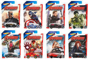 2015 HOT WHEELS AVENGERS AGE OF ULTRON COMPLETE SET OF 8