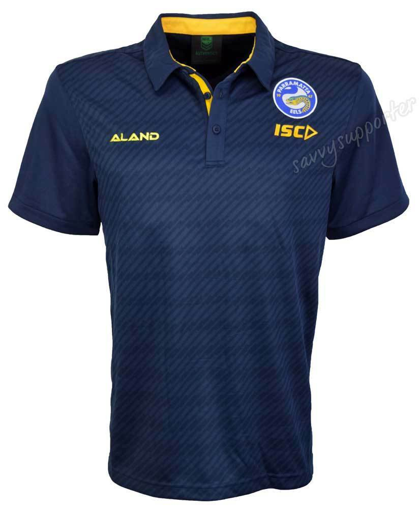 Parramatta Eels 2018 NRL Navy Performance Polo Shirt Sizes S-5XL BNWT