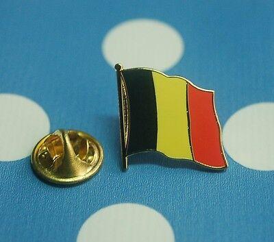 Belgien Europa Pin Button Badge Anstecker Flaggenpin geschwungen emailliert