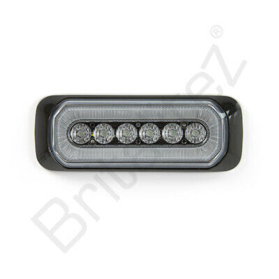 Ultra Thin 5W Grill // Direction Strobe Light ECE R10 R65 6-LED Amber Strobe