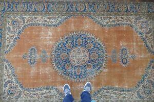 Vintage-Turkish-Rug-Handwoven-Wool-Antique-Area-Rug-Anatolian-Carpet-6-039-5x10-039-4-ft
