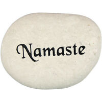 Kheops International - Carved River Stone namaste