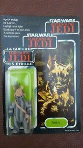 Star Wars Teebo Le Retour Du Jedi Rotj Tril Logo 70 Retour Moc Palitoy Unpunched