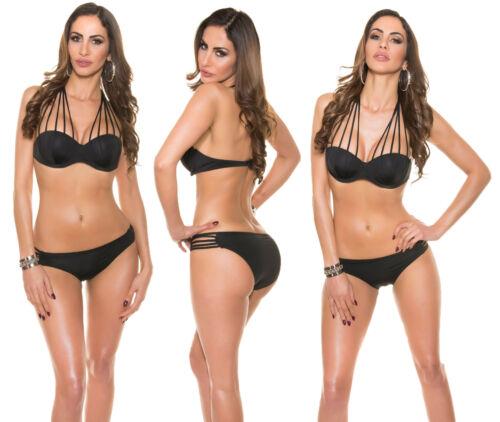 Push Up Bikini Neckholder BANDEAU Design Schwimm Badeanzug Brazil Beachwear SET
