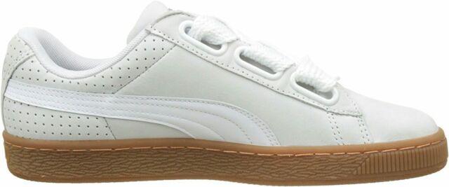 c918c09316a4 PUMA Basket Heart Perf Gum Women s Low Trainers White-gold UK 5.5