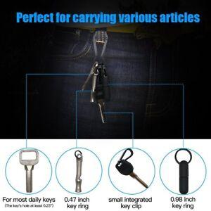 TI-EDC-1-43-039-039-Keychain-Carabiner-Hook-Quick-Release-Titanium-Spring-Snap